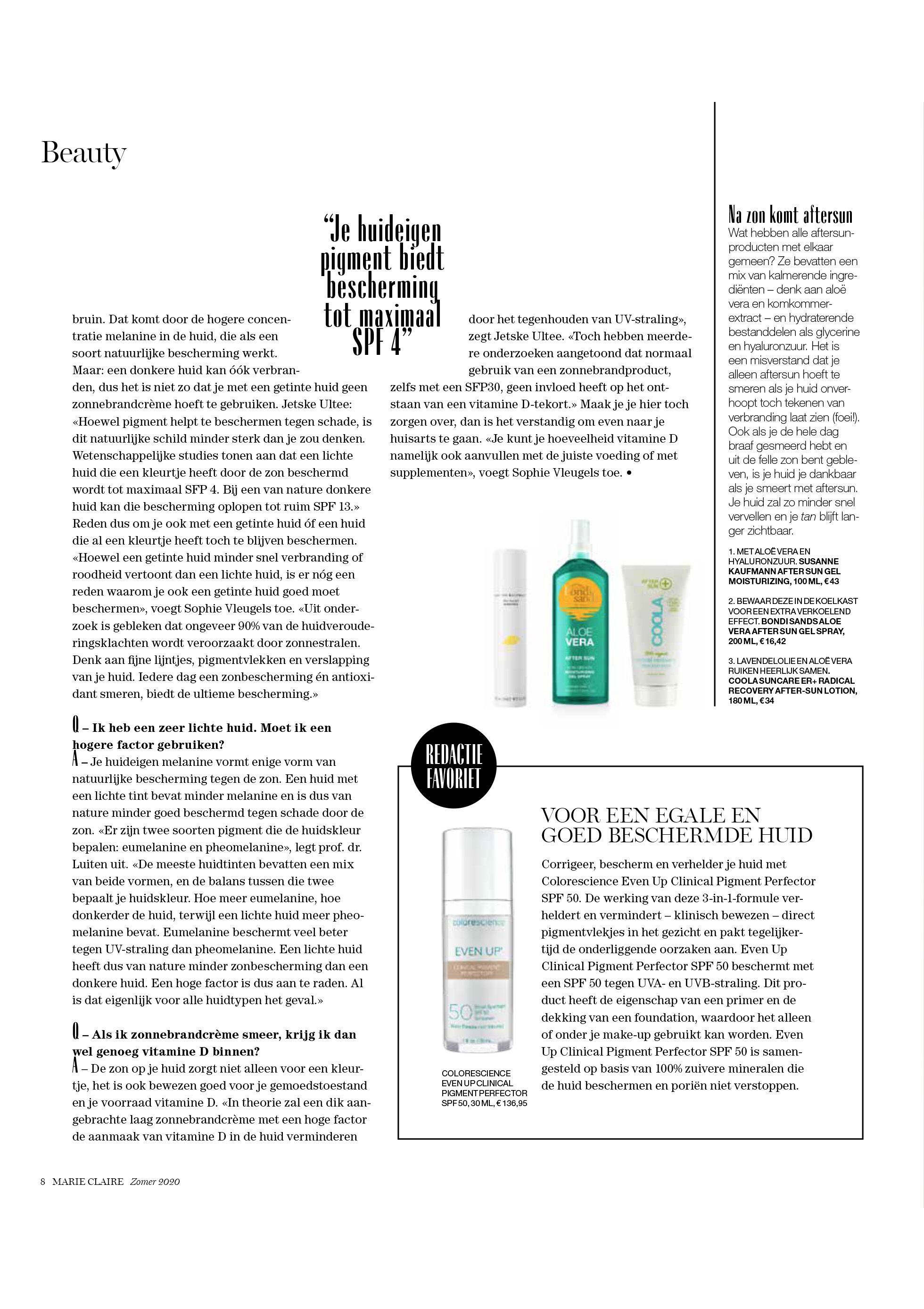 Colorescience in Marie Claire