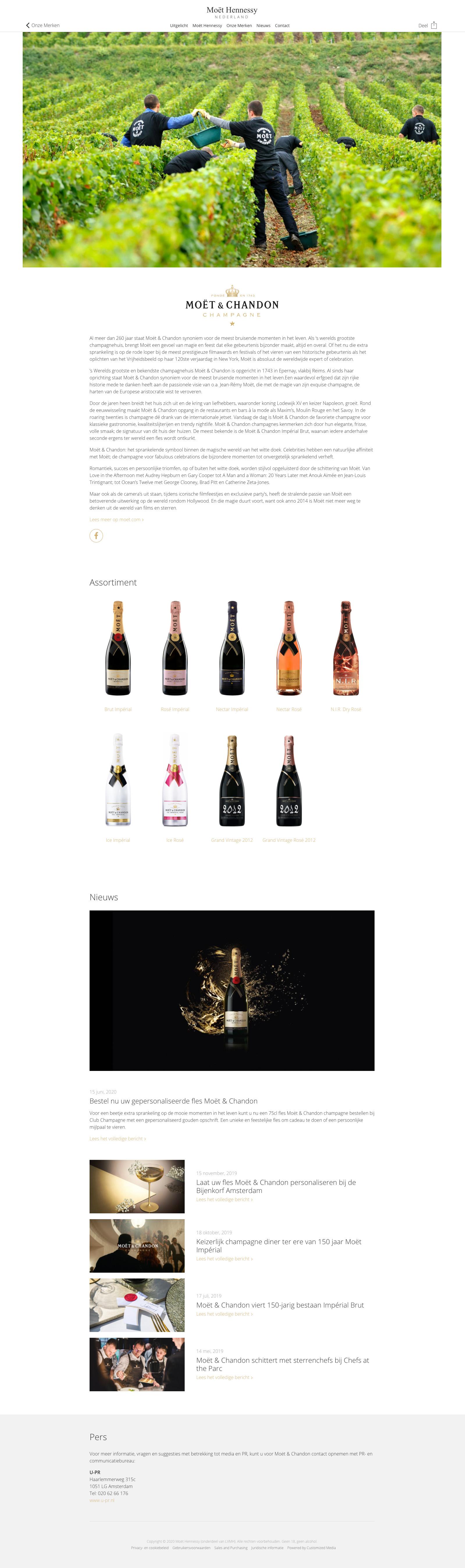 Work Moët Hennessy Nederland - Website MoetHennessy.nl